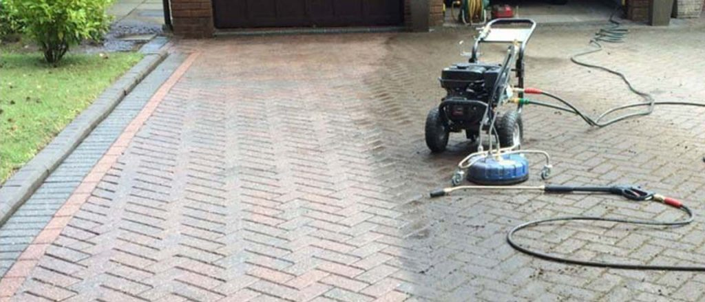 Jet wash driveway cleaning for Ibstock, Ashby & Coalville areas