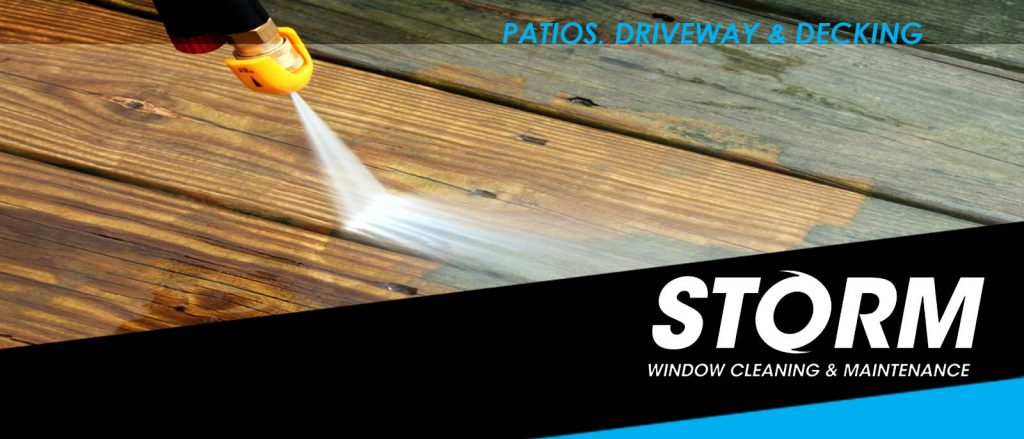 Patio & decking high pressure jet wash cleaning Ashby de la zouch