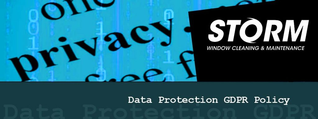 Storm Window Cleaning & Maintenance Data Protection GDPR Policy
