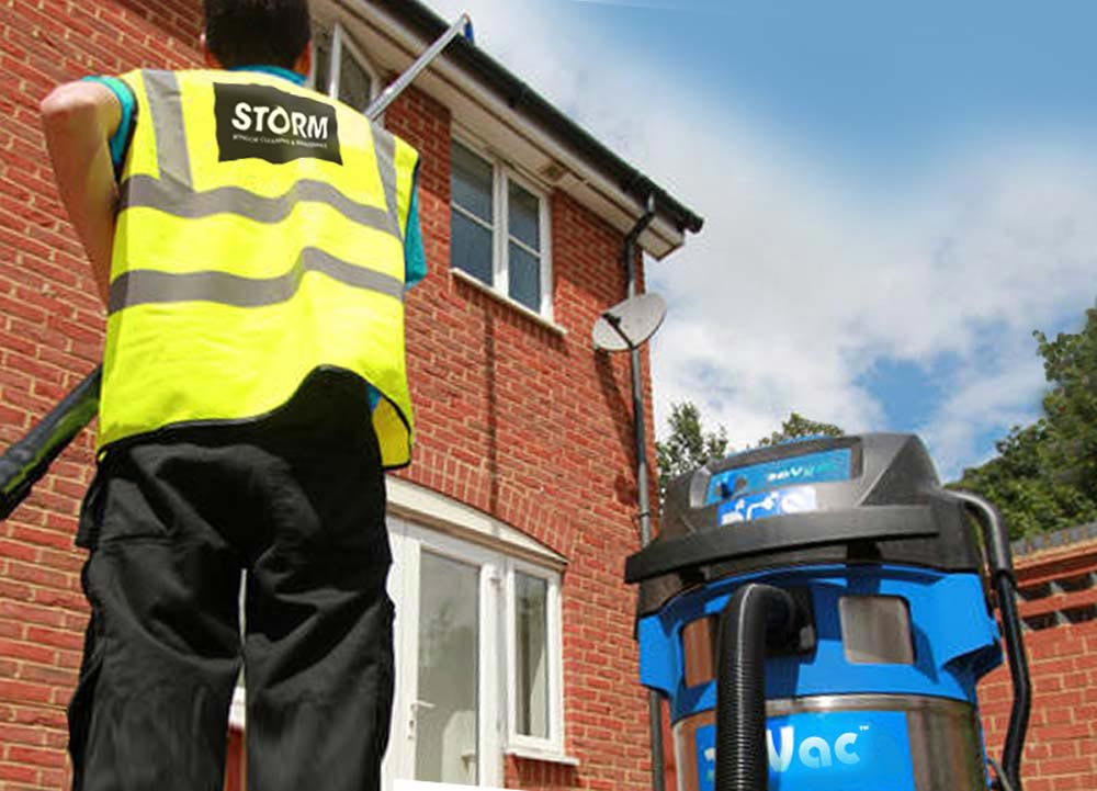 Upto 3 storey gutter cleaning in Shepshed & Loughborough using gutter vacs